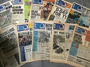 MOTORCYCLE NEWS WEEKLY NEWSPAPERS FROM THE 1970s - 8 to 10 ISSUES PER LOT