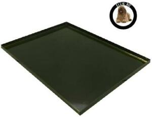 Ellie-Bo Replacement Black Metal Tray for 30 inch Medium Dog Cage Crate in Black
