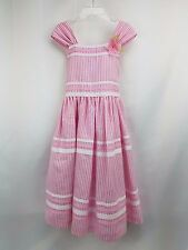 BONNIE JEAN sz 7 pink white seersucker sundress