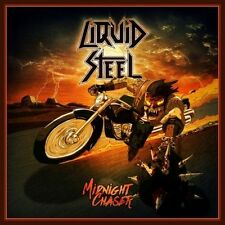 LIQUID STEEL - Midnight Chaser (NEW*LIM.100 BLACK VINYL + PATCH*SKULL FIST)