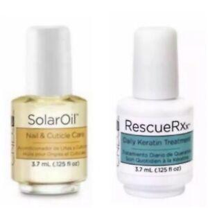 CND Rescue RXx & CND Solar Oil 3.7ml  (2 Bottles) MINIS..GENUINE
