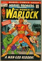 Marvel Premiere #1-1972 vg- 3.5 1st app and Origin of Warlock / Counter-Earth
