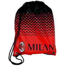 OFFICIAL AC MILAN FC FADE GYM PE SCHOOL SWIMMING BAG SPORT NEW XMAS GIFT