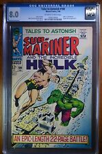 TALES TO ASTONISH #100 CGC 8.0 VF OW/W Marvel Battle Cover Hulk vs. Sub-Mariner