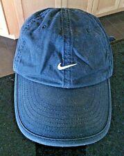 Nike Baseball Cap Embroidered Tick Black Hat Adjustable Golf Sports Men's Curved