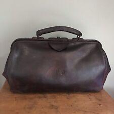 Antique Leather Gladstone Bag Doctors Bag