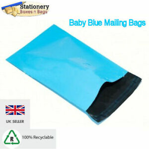 "BABY BLUE Mailing Bags 4.5"" x 6.5"" - 120x170mm   Postal Packaging  Choose QTY"