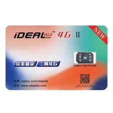 iDeal II Unlocking Turbo Sim Card 1pc for iPhone X 8 7 6S 6P 5S SE 5 LTE 4G GPP