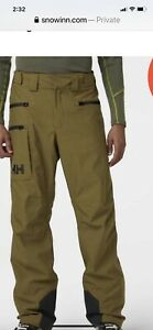 New With Tags Helly Hansen Garibaldi 2.0 Snow Pants XL Green Rescue Technology