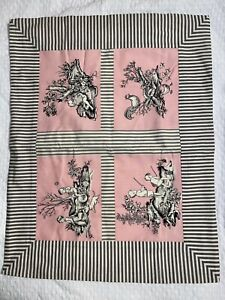 """Dransfield & Ross French Toile Pink Standard Sham NWT 25"""" x 20"""""""