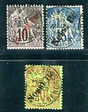 NOSSI BE 1893 Yvert 23-25 gestempelt gute WERTE 150€(C3289