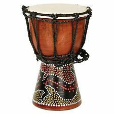 "12"" African Musical Instrument Tribal Djembe Drum with Painted Design"