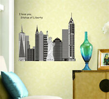 Statue of liberty Home Decor Removable Wall Sticker Decal Decoration Vinyl Mural