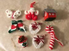 Lot Handmade Christmas Ornaments, Hand-made, 8 pcs.