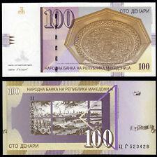 MACEDONIA 100 DENARI (P16h) 2008 UNC