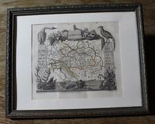 1823 Aristade Perrot AUSTRIA MAP MINIATURE LITHOGRAPH HAND COLOR AUTRICHE ART