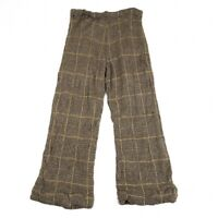 Y's Wool Plaid Knit Pants Size 2(K-75191)