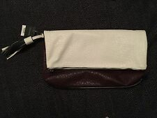 TOPSHOP White And Burgundy Clutch Bag With Tassel BNWT