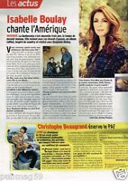 Coupure de presse Clipping 2011 (1 page) Isabelle Boulay