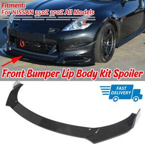 Front Bumper Lip Spoiler Splitter Kit CF Painted For Nissan 350Z 370Z Z33 Z34 !!