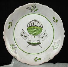 Teller für Dekor Montgolfère Ballon Skibob Marke mit Lilie mit Rucksack 24 CM
