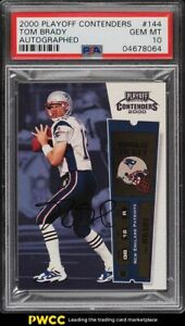 2000 Playoff Contenders Tom Brady ROOKIE RC AUTO #144 PSA 10 GEM MINT