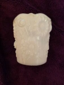 Vintage milk glass pattern toothpick holder cute