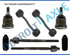 2006 2007 Jeep Liberty Lower Ball Joint Inner Tierod Front Sway Bar Link 8pc Kit