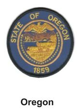 """OREGON STATE SEAL EMBROIDERED PATCH 3""""  -  NEW"""