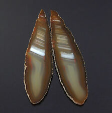 2 POLISHED SLABS,BOTH SIDES ,WATER LEVEL BRAZILIAN AGATE