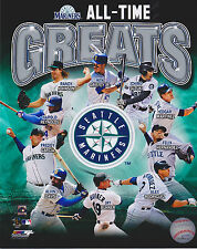 SEATTLE MARINER All-ime Greats UNsigned licensed 8x10 color photo Griffey Ichiro