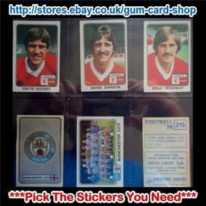 PANINI FOOTBALL 79  (CARDS 200 TO 299) (G) ***PICK THE STICKERS YOU NEED***
