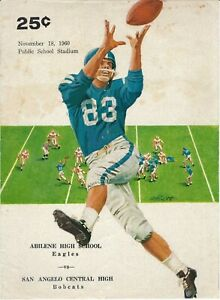 1960 SAN ANGELO BOBCATS vs ABILENE EAGLES Texas High School FOOTBALL Program