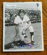 RON BLOMBERG NEW YORK YANKEE OUTFIELDER/DH AUTOGRAPHED 8X10 PHOTOGRAPH *