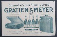 BUVARD GRATIEN & MEYER vin mousseux Saumur Blotter Löscher