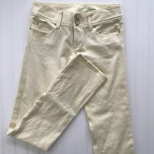 Lilly Pulitzer Women's Jeans Size 00 Worth Straight Light Yellow