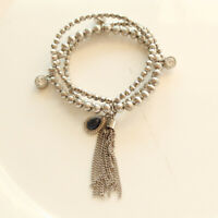 New Jessica Simpson Charms Tassel Elastic Bracelet Gift Fashion Women Jewelry