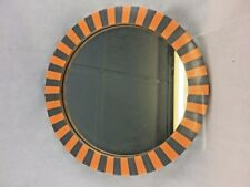 Handcrafted Unique Round Mirror W MDF Frame Stylish Design 37cm Dia Modern F.s.