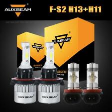 AUXBEAM H13+H11 H8 LED Headlight Fog for 09-17 Mini Cooper 15-18 Jeep Renegade