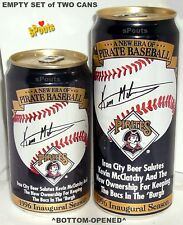 1996 NEW ERA PITTSBURGH PIRATE BASEBALL Kevin McClatchy BEER CAN IRON CITY SPORT