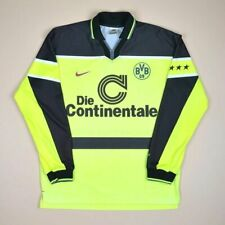 BORUSSIA DORTMUND 1997 PLAYER ISSUE HOME FOOTBALL SHIRT JERSEY NIKE LONG SLEEVE