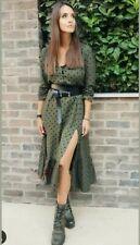ZARA Polka Dot Dress with split size medium