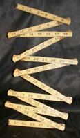 "Vintage Oxwall Wooden 72"" Folding Measuring Stick Extension Ruler Tape Measure 6"