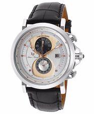 Lucien Piccard 40015-02S-RA-CP Black Leather Strap Men's Quartz Watch