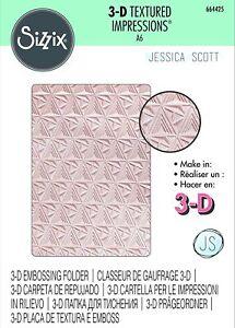 Sizzix 3D Textured Impressions A6 Embossing Folder - Geometric Lattice