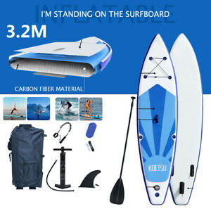 USA 10ft Inflatable Surfboard Stand Up Paddle Board Paddle Pump W/ Full SUP Set