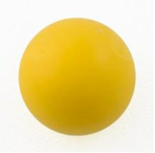 1 Balle de babyfoot jaune type compétition