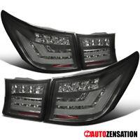 For 2007-2009 Lexus LS460 Smoke LED DRL Bar/Tube Tail Lights Brake Lamps Pair