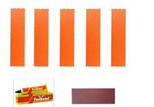 Toe Guard Cricket Bat Repair Orange Kit (5pc Toe1 +Abrasive Strip +1 Fevibond)