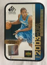 2003-04 Upper Deck SP Signature Edition Tin Box Carmelo Anthony Edition Sealed
